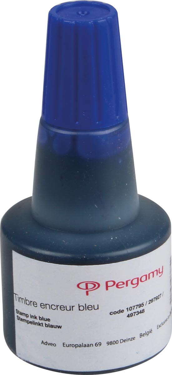 Pergamy stempelinkt blauw