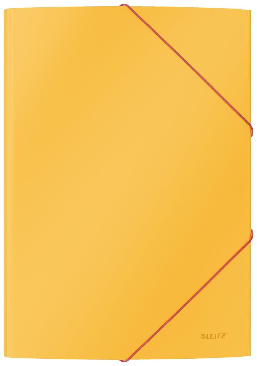 Leitz Cosy elastomap met 3 kleppen, uit karton, ft A4, geel