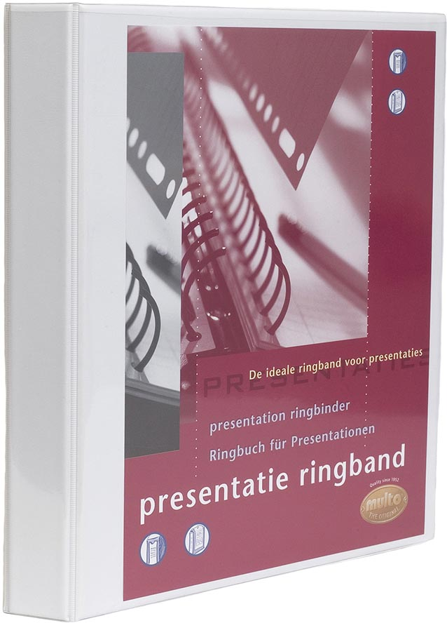 Multo personaliseerbare ringmap, ft A4, 23 O-ringen van 32 mm, wit