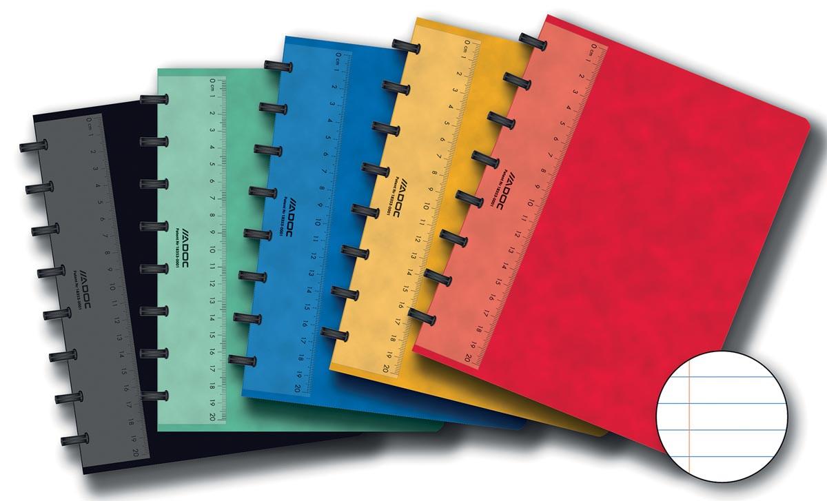 Adoc Classic schrift, ft A5, 144 bladzijden, gelijnd, geassorteerde kleuren