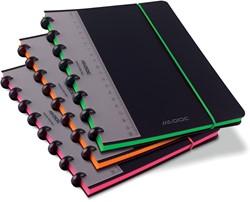 Adoc schrift Coloredge, ft A5, gelijnd, met rode kantlijn, 144 bladzijden, geassorteerde kleuren
