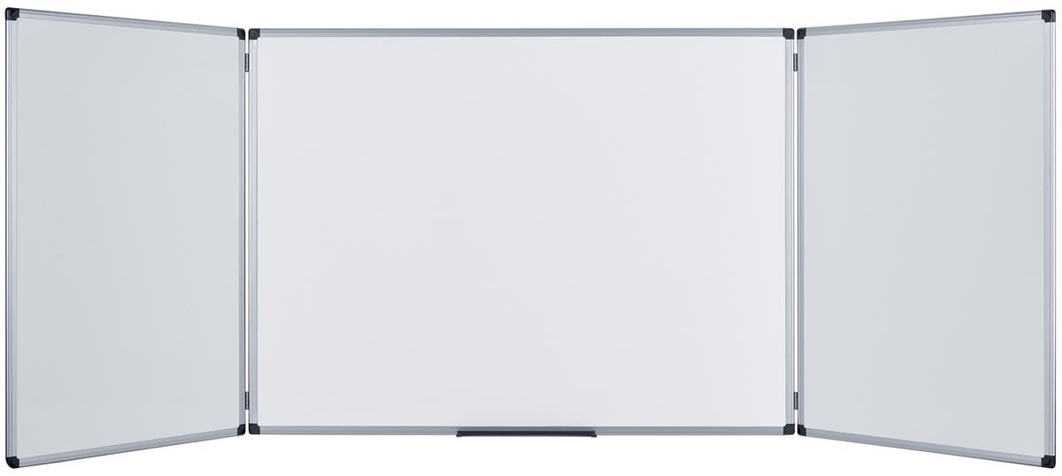 Bi-Office magnetisch whiteboard trio ft 150 x 100 cm