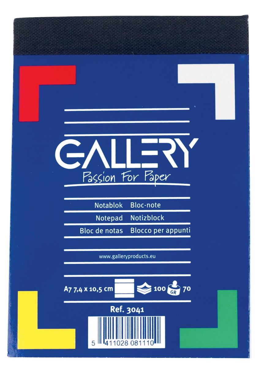 Gallery Gallery notitieblok ft 7,4 x 10,5 cm (A7), gelijnd, 60 g-m (3041)