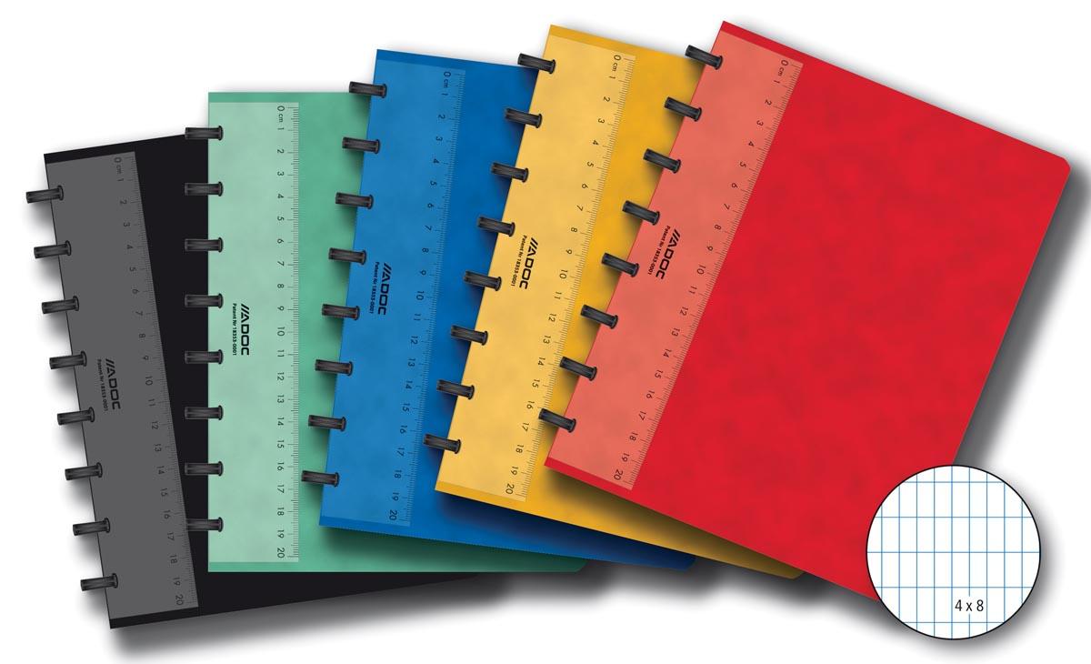Adoc Classic schrift, ft A5, 144 bladzijden, commercieel geruit, geassorteerde kleuren
