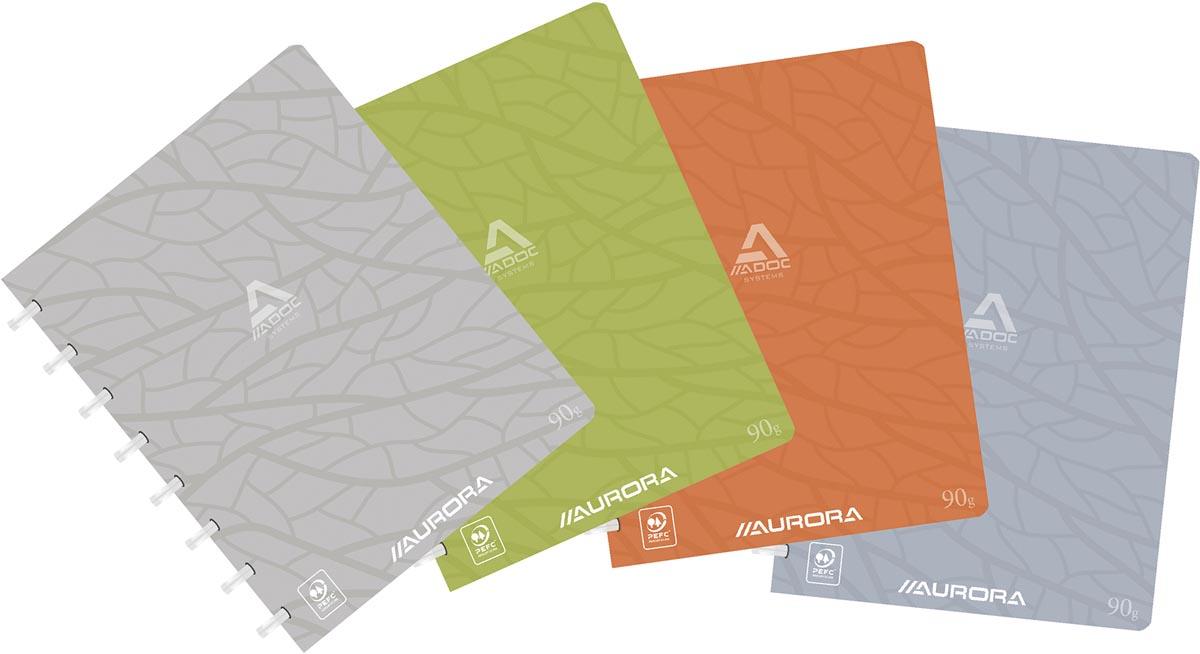 Adoc schrift Design, ft A5, 144 bladzijden, kartonnen kaft, commercieel geruit, geassorteerde kleure