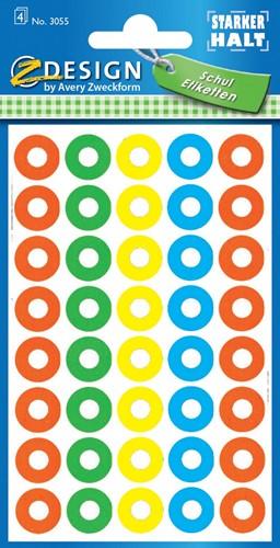 Avery Versterkingsringen geassorteerde kleuren