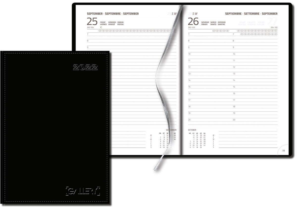 Gallery agenda Businesstimer, zwart, 2022