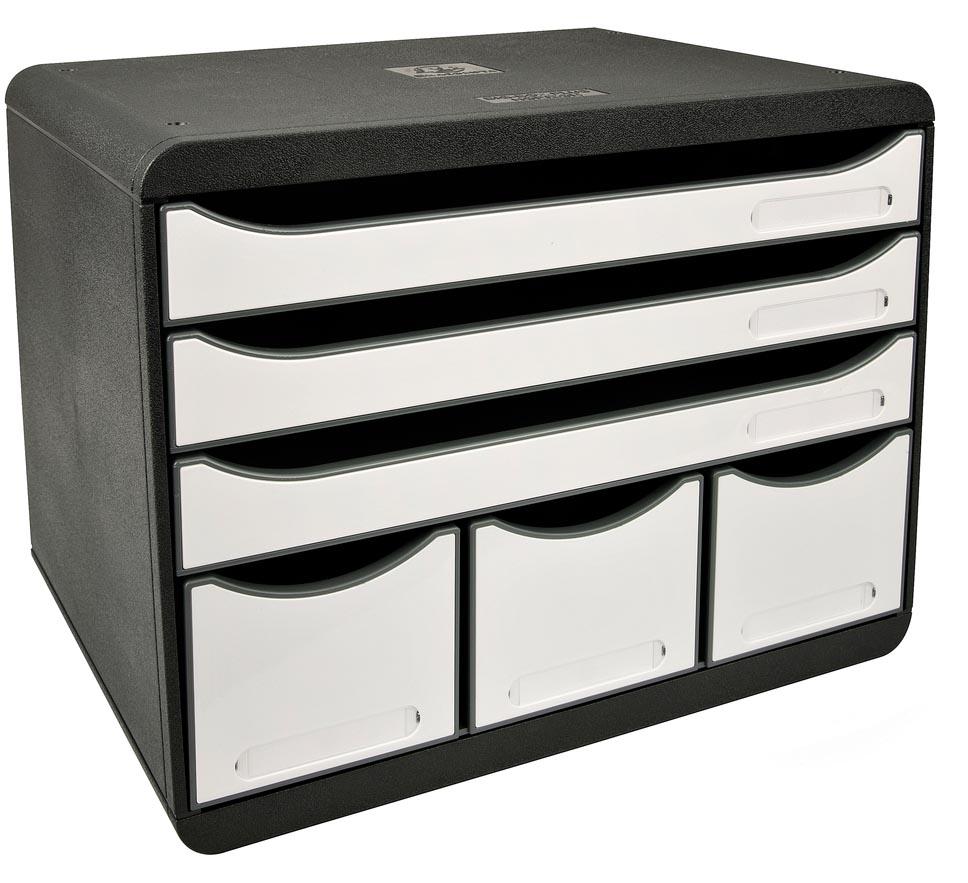 Exacompta ladenblok Storebox Maxi, zwart/wit