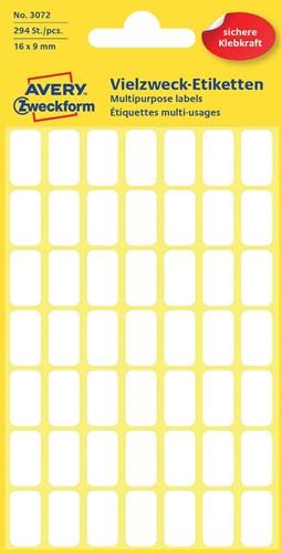 Avery Witte etiketten ft 16 x 9 mm (b x h), 294 stuks