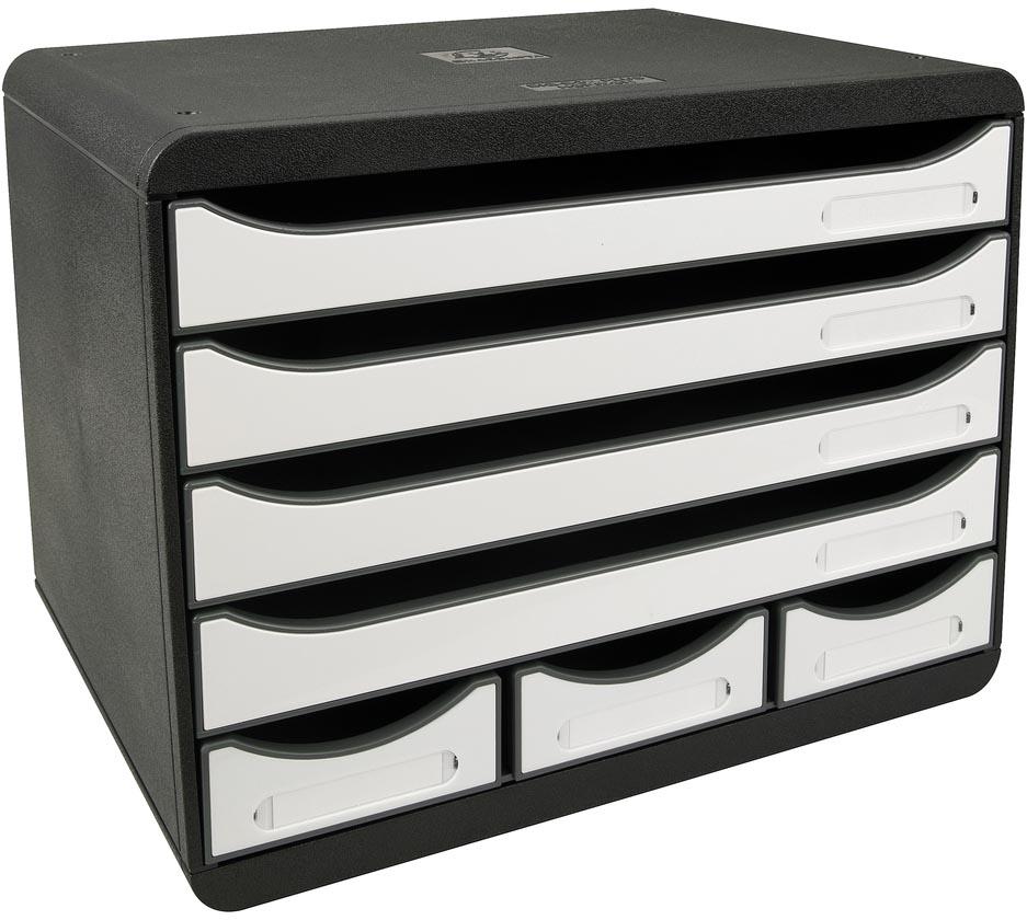 Exacompta ladenblok Storebox Mini, zwart/wit