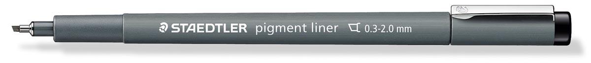 Staedtler fineliner pigment liner met beitelpunt zwart