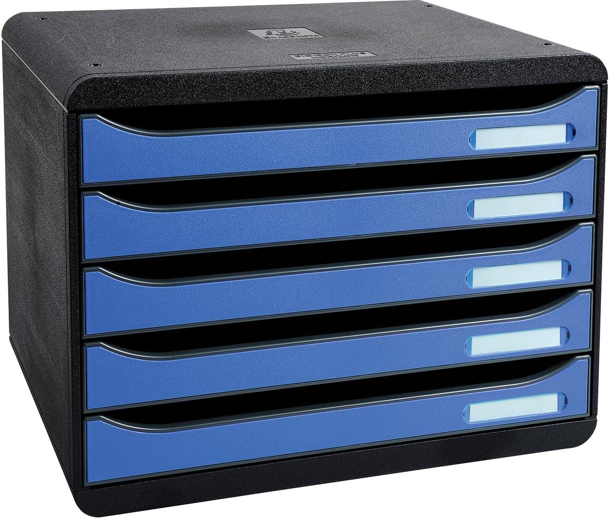 Exacompta ladenblok Big-Box Plus, horizontaal, zwart/ijsblauw