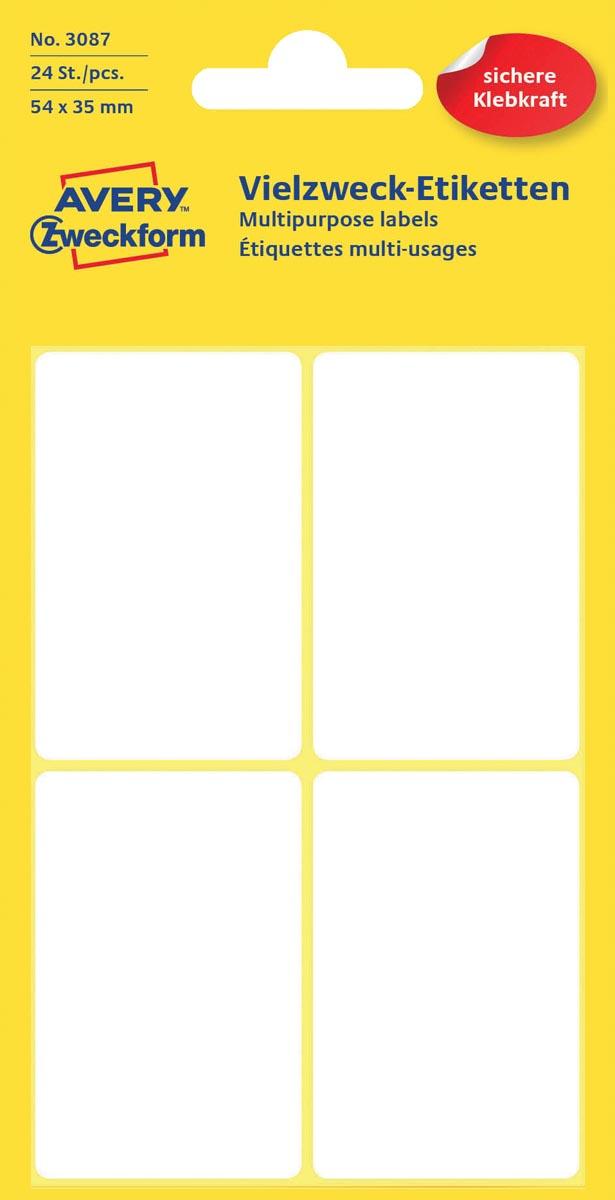 Avery Witte etiketten ft 54 x 35 mm (b x h), 24 stuks