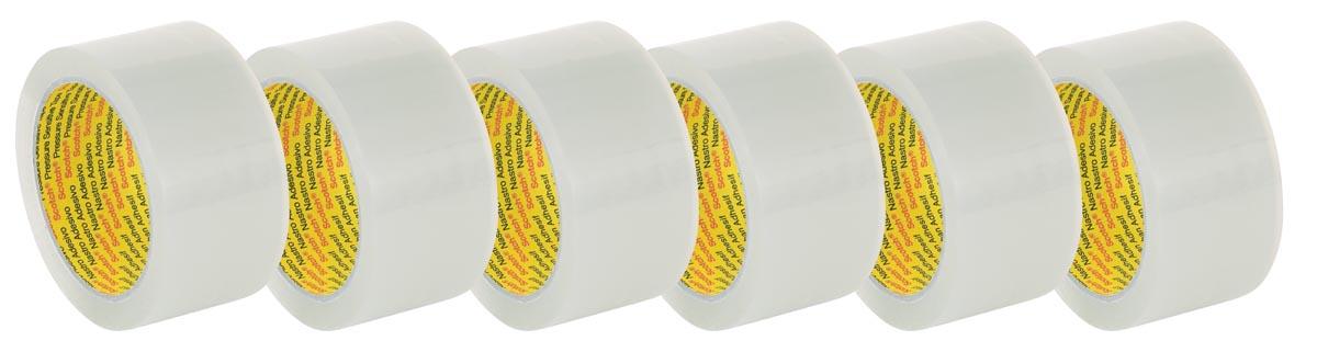 Scotch verpakkingsplakband 309, ft 48 mm x 66 m, transparant, pak van 6 stuks