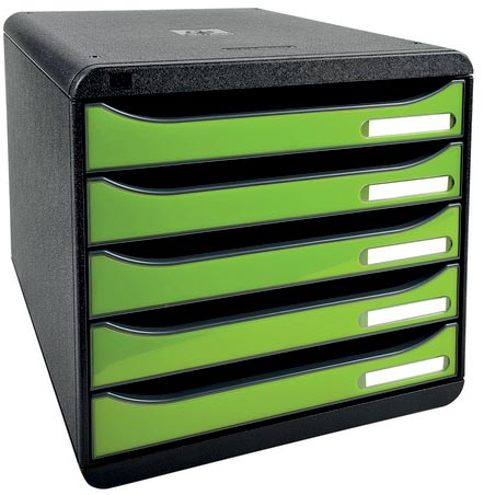 Exacompta ladenblok BIG-BOX PLUS Classic zwart/anijsgroen glossy