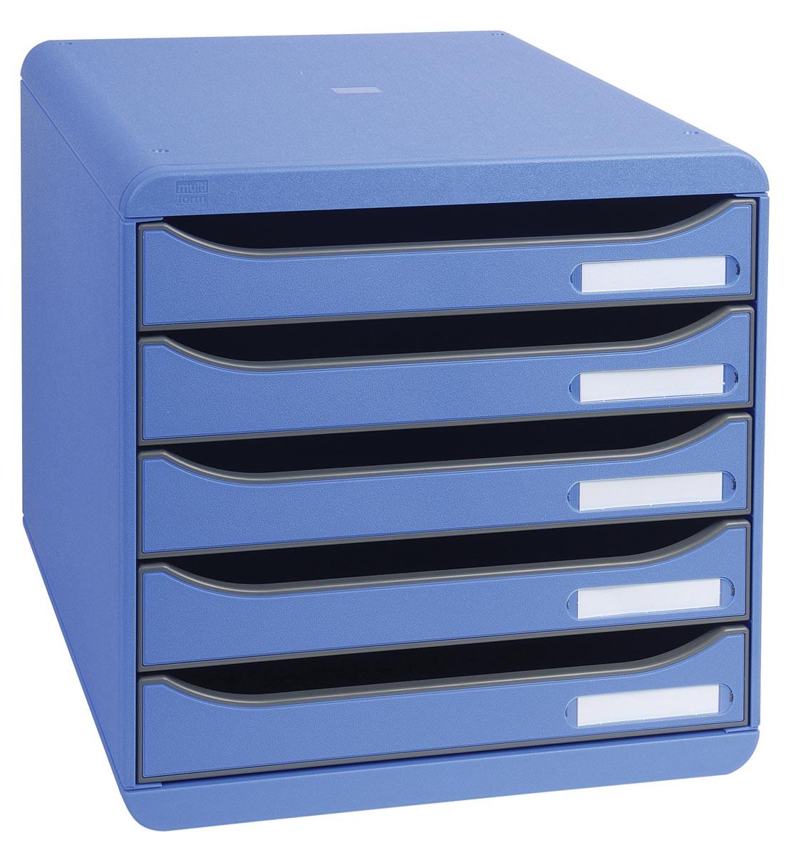 Exacompta Classic Ladenkastje Blauw A4 Plastic 27 8 x 34 7 x 27 1 cm