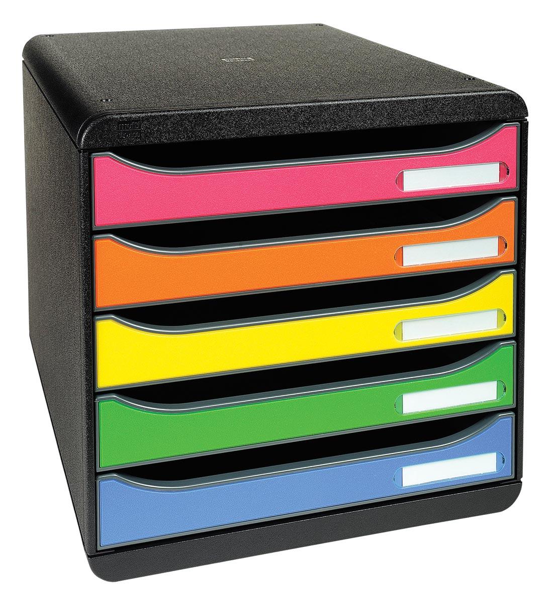 Exacompta 309798D Ladenblokken Zwart roze oranje geel groen lichtblauw PS 27 8 x 34 7 x 27 1 cm Stuk