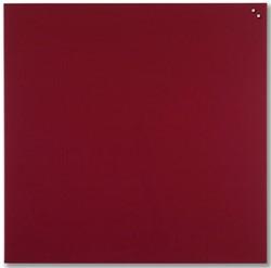 Naga magnetisch glasbord, rood, ft 100 x 100 cm
