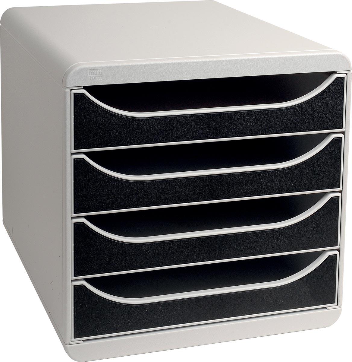 Exacompta ladenblok Big-Box, lichtgrijs/zwart