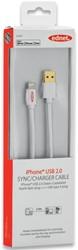 Ednet 8 pin kabel, 3 meter, wit