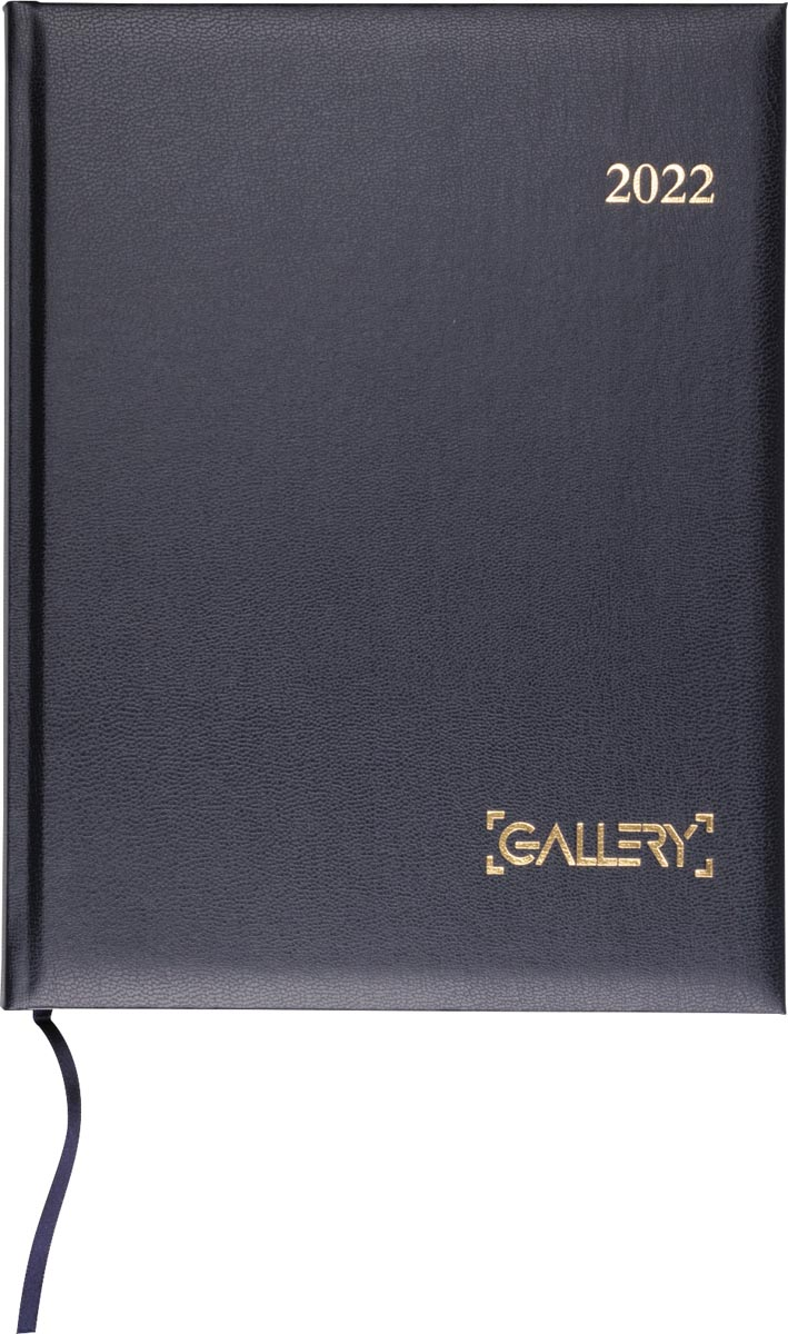 Gallery agenda, weektimer, 2022, blauw