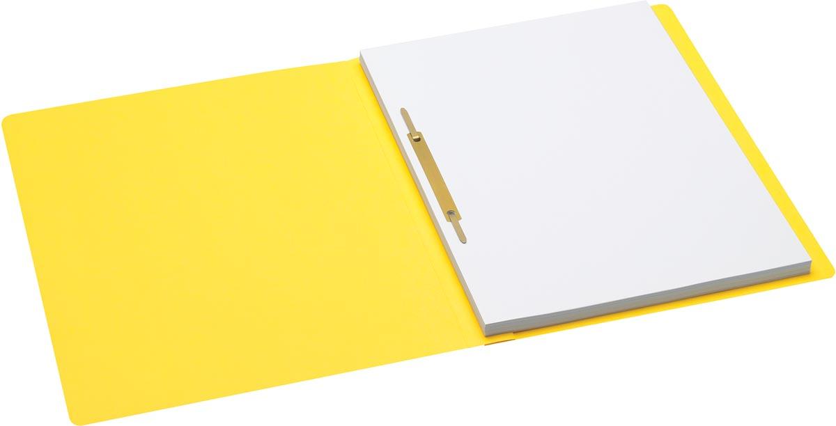 Jalema Secolor hechtmap, ft A4 met snelhechter, pak van 10 stuks, geel