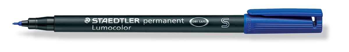 Staedtler OHP-marker Lumocolor permanent, fijne punt van 0,4 mm, blauw