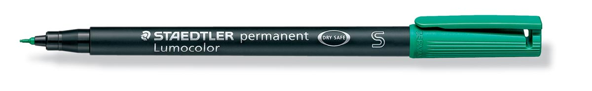Staedtler OHP-marker Lumocolor permanent, fijne punt van 0,4 mm, groen