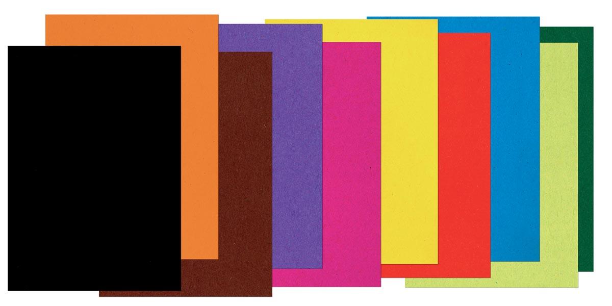 Gekleurd tekenpapier ft 17 x 21 cm