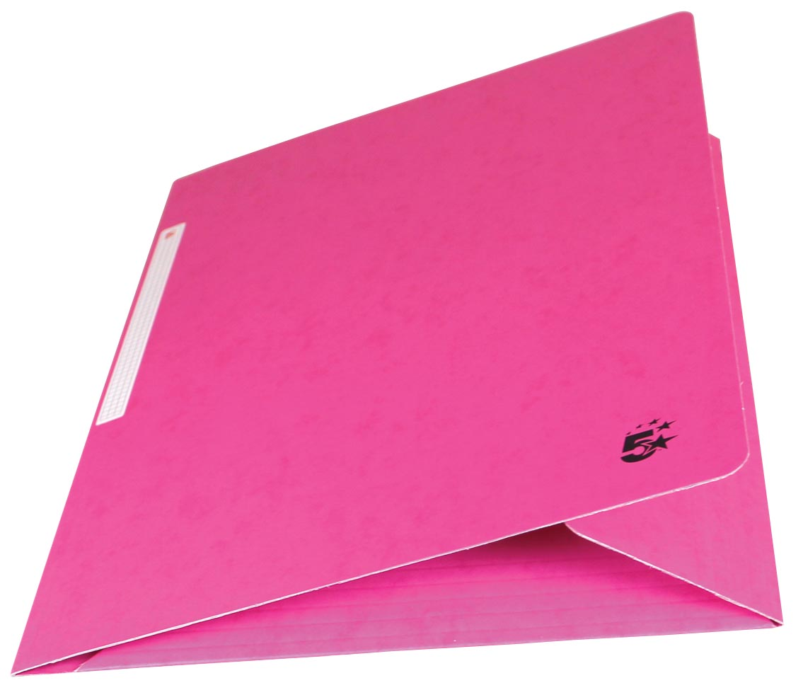 5 Star elastomap 3 kleppen, roze, pak van 10