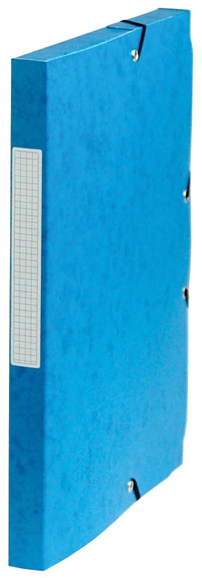 Pergamy elastobox, rug van 2,5 cm, donkerblauw
