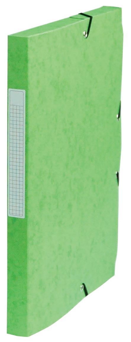 Pergamy elastobox, rug van 2,5 cm, groen