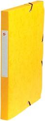 5 Star elastobox, rug van 2,5 cm, geel
