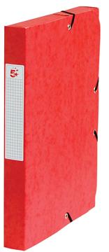 5 Star elastobox, rug van 4 cm, rood