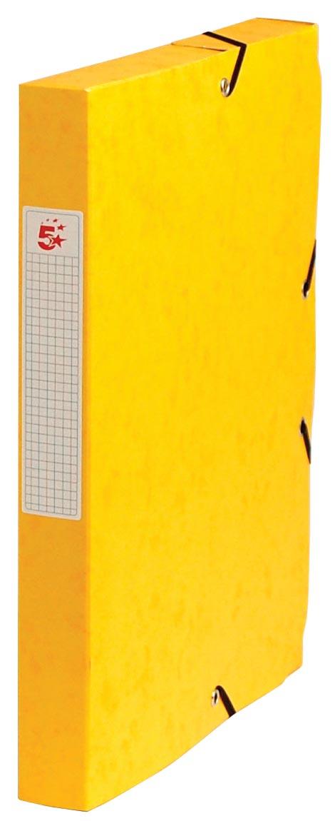5 Star elastobox, rug van 4 cm, geel