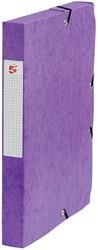 5 Star elastobox, rug van 4 cm, paars