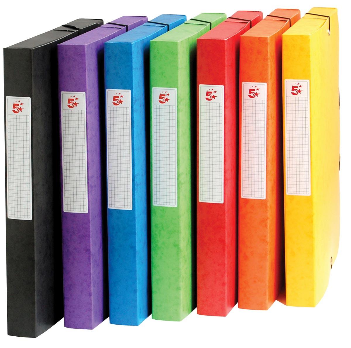 5 Star elastobox, rug van 4 cm, geassorteerde kleuren