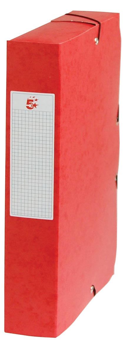 Pergamy elastobox, rug van 6 cm, rood