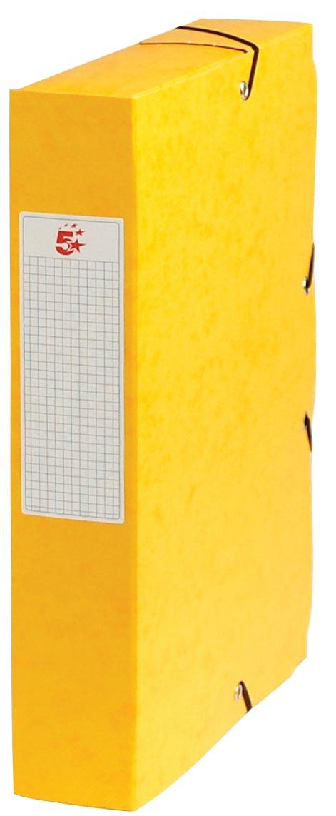 Pergamy elastobox, rug van 6 cm, geel