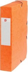 5 Star elastobox, rug van 6 cm, oranje