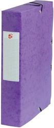 5 Star elastobox, rug van 6 cm, paars