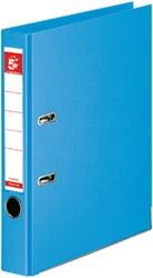 5 Star ordner, ft A4, rug van 5 cm, volledig uit PP, luchtblauw