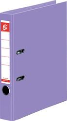 5 Star ordner, ft A4, rug van 5 cm, volledig uit PP, lila