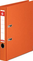 5 Star ordner, ft A4, rug van 5 cm, volledig uit PP, oranje