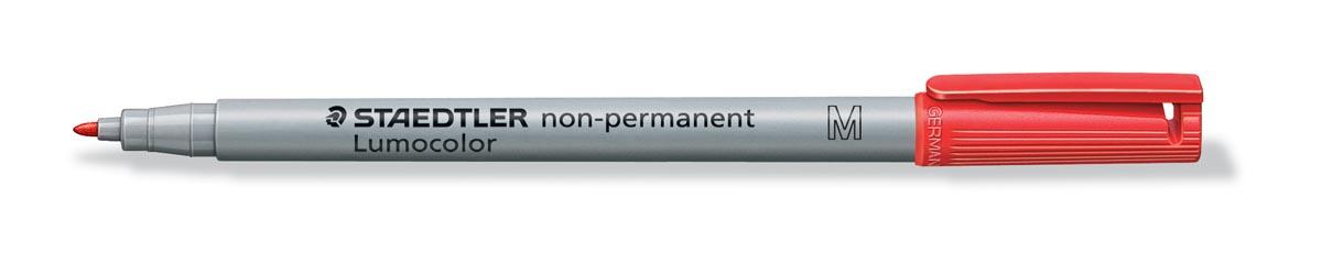 Staedtler OHP-marker Lumocolor non-permanent, fijne punt van 1 mm, rood
