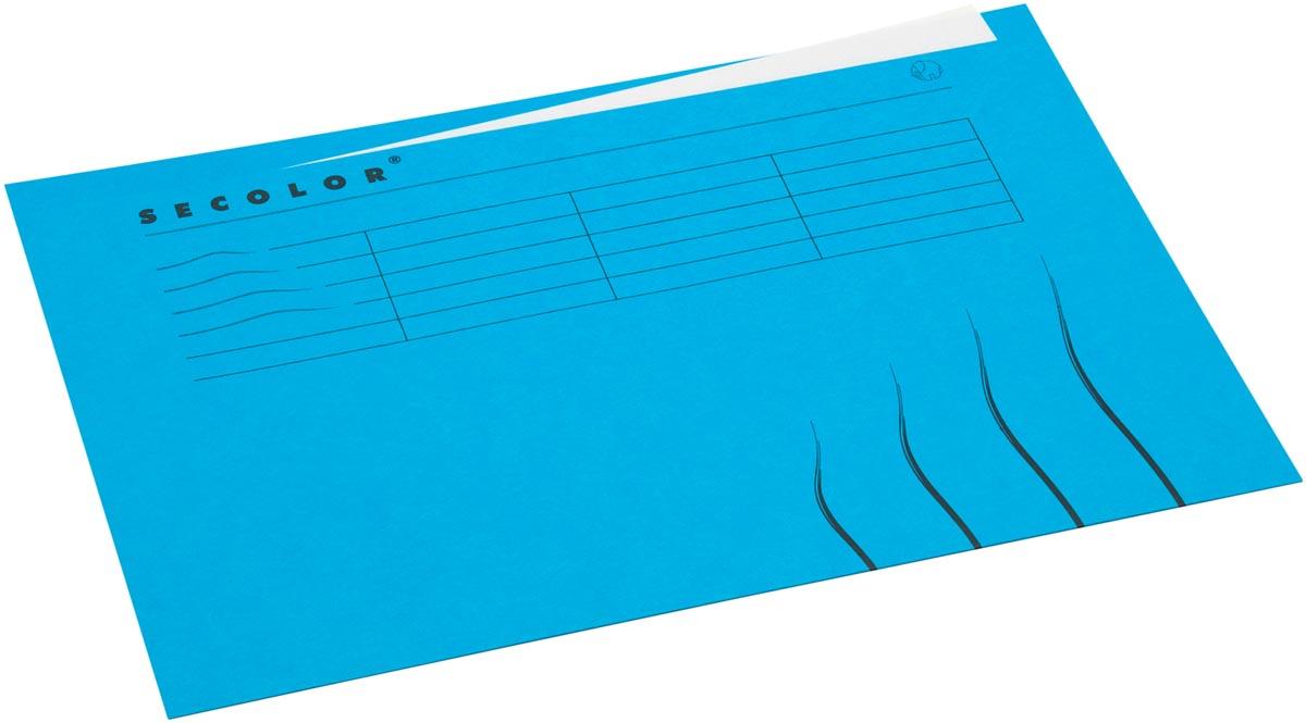 Jalema Secolor dossieromslag voor ft A4 (22,5 x 31 cm), blauw, met tabrand