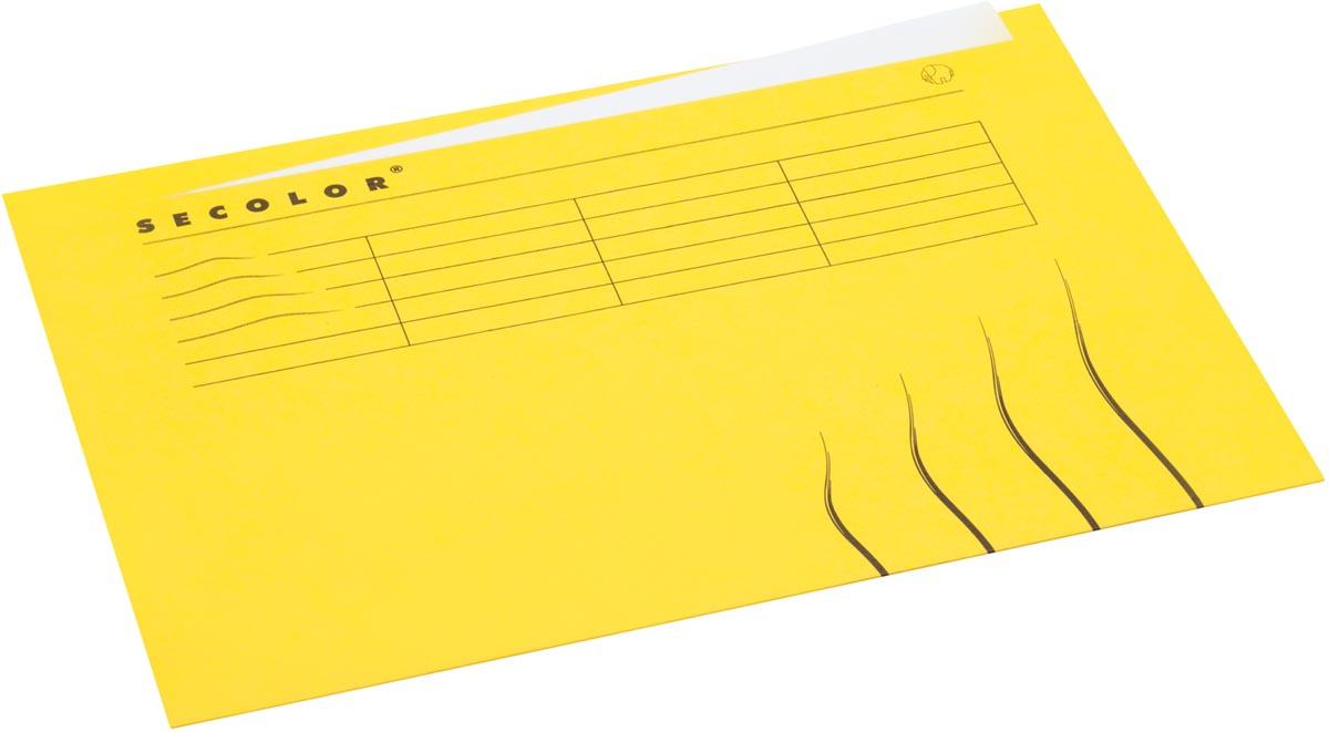 Jalema Secolor dossieromslag voor ft A4 (22,5 x 31 cm), geel, met tabrand