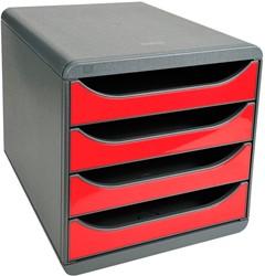 Exacompta ladenblok Big-Box Classic, muisgrijs/karmijnrood