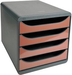 Exacompta ladenblok Big-Box Classic, muisgrijs/geglaceerde kastanje glossy