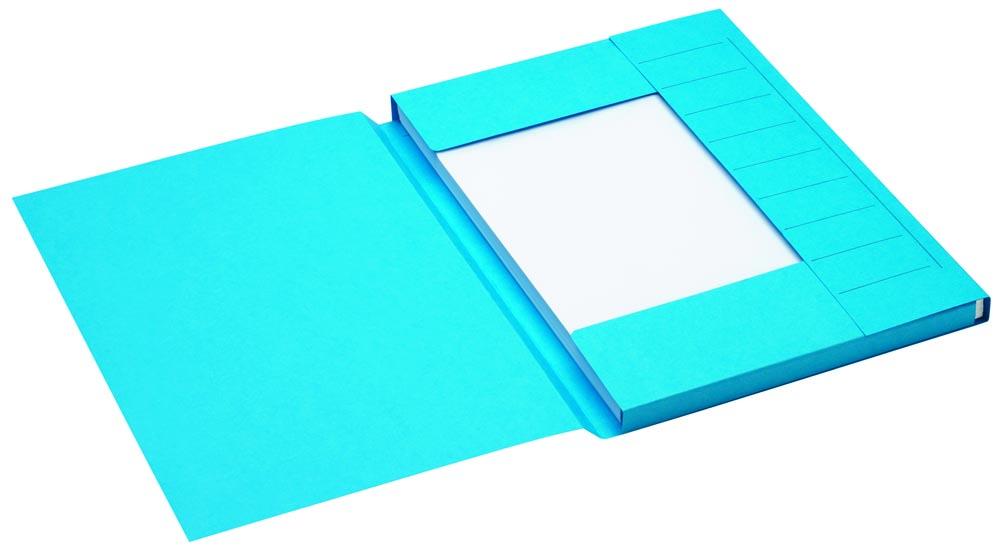 Jalema Secolor dossiermap voor ft A4 uit karton, blauw, pak van 25 stuks